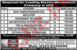Electra Mechanical Company Jobs 2020 in UAE