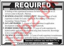 Path Solutions Pakistan Pvt Ltd Jobs 2020 in Karachi