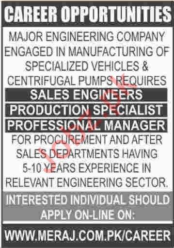 Engineering Company Management Staff Jobs 2020