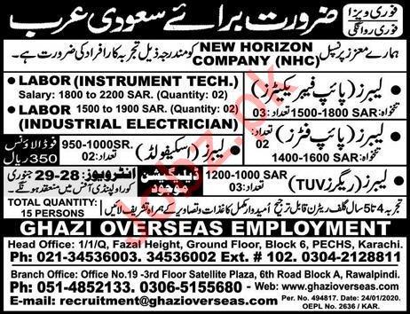 New Horizon Company NHC Jobs 2020 in Saudi Arabia