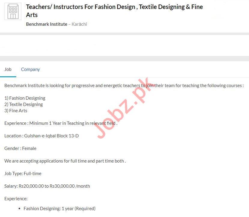 Benchmark Institute Jobs For Teachers & Instructors