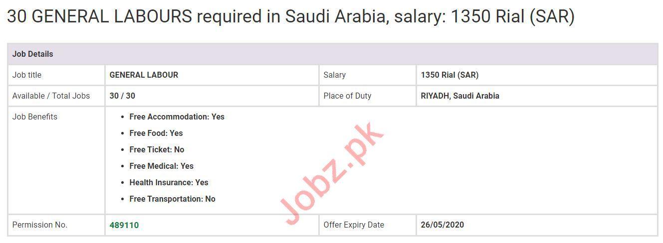 General Labour & Truck Driver Jobs 2020 in KSA