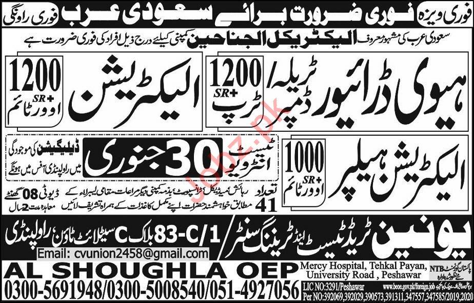Al Janaheen Contracting Company Jobs in Saudi Arabia
