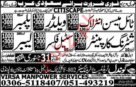 Citiscape Company Jobs 2020 For Construction Labors