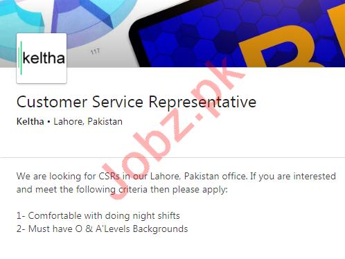 Keltha BPO Company Lahore Jobs 2020
