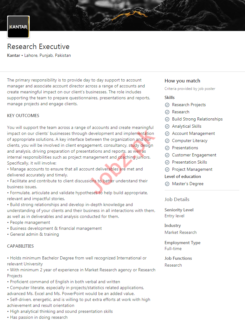 Research Executive Jobs in Kantar