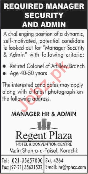 Regent Plaza Hotel & Conventions Centre Jobs 2020