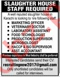 Slaughter House Jobs 2020 in Karachi