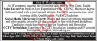 IT Company Jobs in Taxila