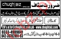 Chughtaiz Private Limited Technical Staff Jobs 2020