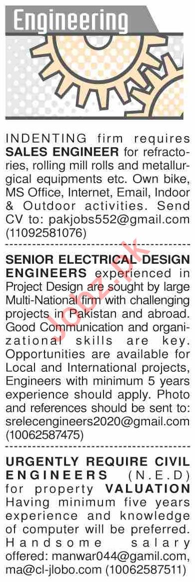 Dawn Sunday Classified Ads 2nd Feb 2020 for Engineering