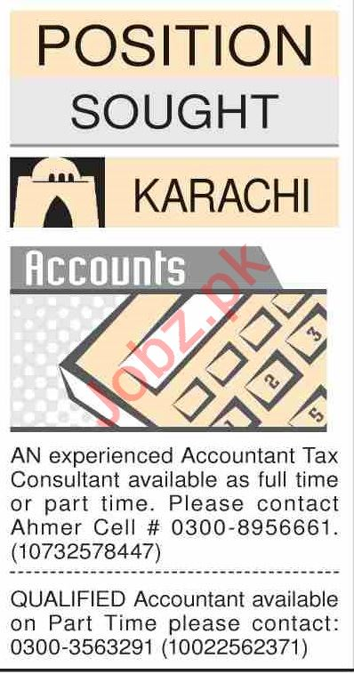 Dawn Sunday Classified Ads 2nd Feb 2020 for Accounts