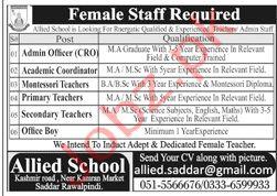 Allied School Saddar Rawalpindi Jobs 2020