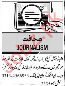 Jang Sunday Classified Ads 2nd Feb 2020 for Journalism Staff