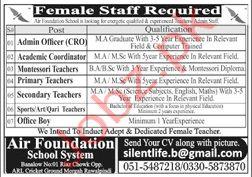 Air Foundation School System Rawalpindi Jobs 2020