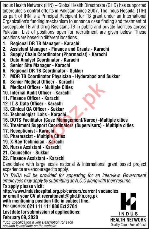 Indus Health Network IHN Management Jobs 2020