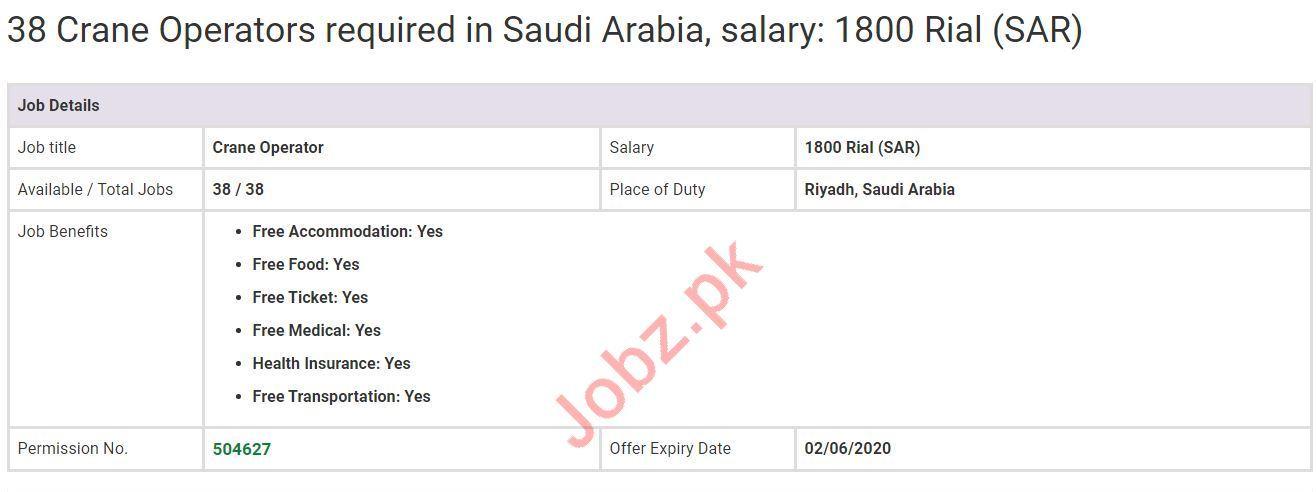 Crane Operator Jobs in Riyadh Saudi Arabia