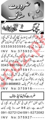 Teaching Staff Jobs 2020 in Peshawar KPK