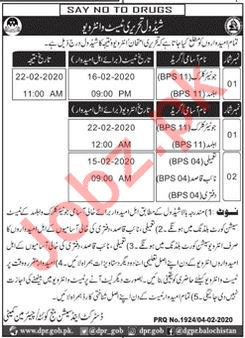District & Session Judge Office Quetta Jobs Interviews 2002