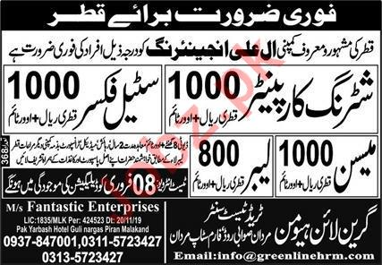 Al Ali Engineering Company Qatar Jobs 2020