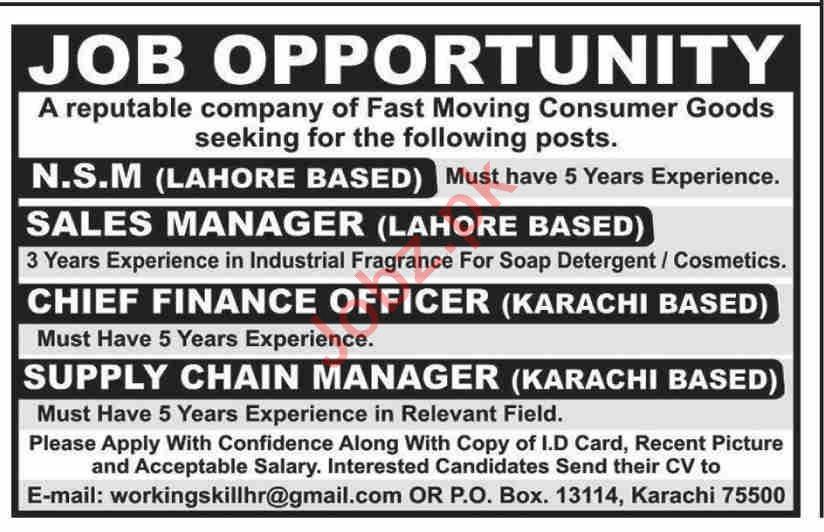 P O Box No 13114 Jobs 2020 in Karachi & Lahore