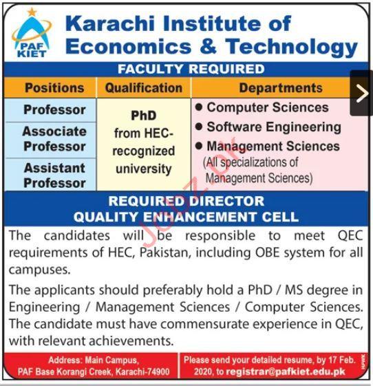 PAF KIET Karachi Institute of Economics & Technology Jobs 20