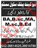New Cantt Public School System Jobs 2020 in Lahore