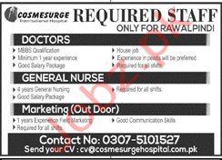 Cosmesurge International Hospital Rawalpindi Jobs 2020