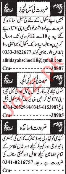 Principal & Teachers Jobs 2020 in Quetta