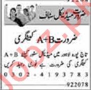 Dunya Sunday Classified Ads 9 Feb 2020 for Medical Staff