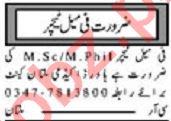 Teaching Staff Jobs 2020 in Multan