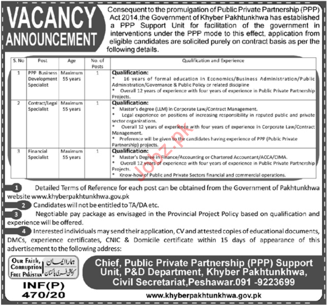 Public Private Partnership PPP Support Unit Jobs 2020