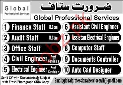 Global Professionals Services Management Jobs 2020