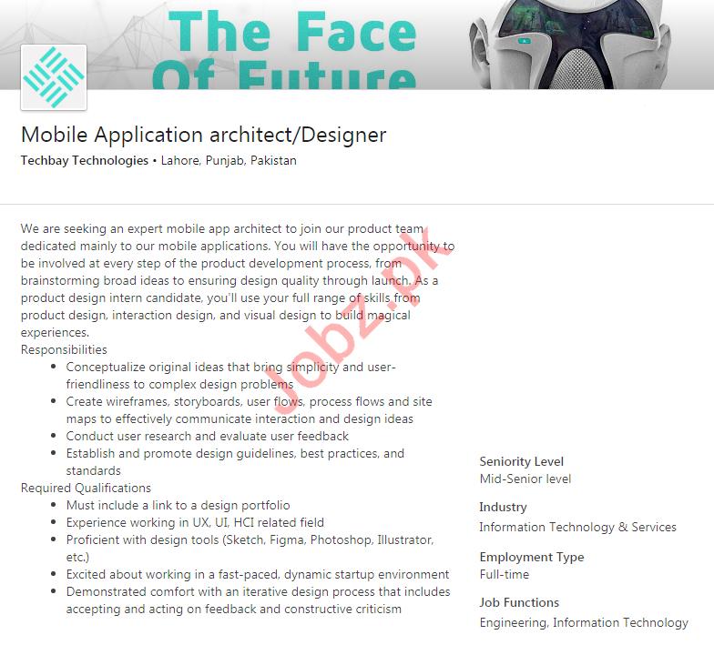Techbay Technologies Lahore Jobs 2020 for App Developer