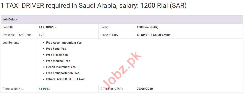 Taxi Driver Jobs in Al Riyadh Suadi Arabia
