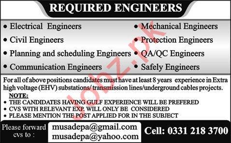 Engineering Staff Jobs in Engineering Company