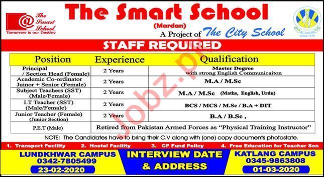The Smart School Teaching Staff Jobs 2020