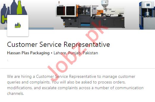 Hassan Plass Packaging Customer Services Representative Jobs