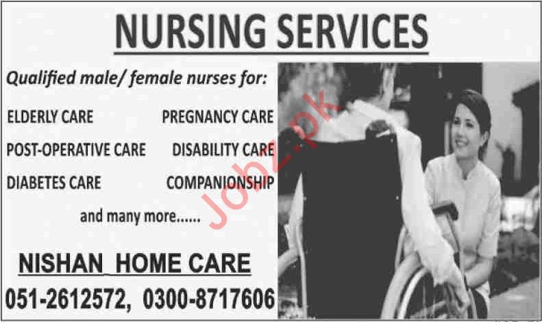 Nishan Home Care Jobs 2020 For Nurses in Islamabad