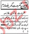 House Maid Job 2020 in Lahore Cantt