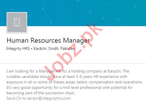 Human Resources HR Manager Job 2020 in Karachi