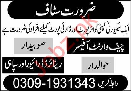 Security Company Jobs 2020 in Lahore