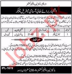 Mines Labour Welfare Organization Lahore Jobs 2020