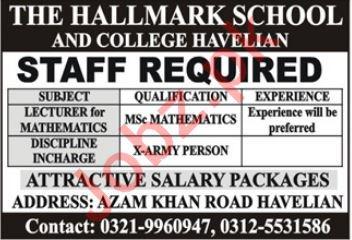 The HallMark School Teaching Staff Jobs 2020