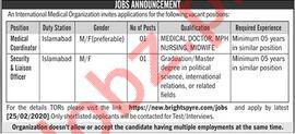 International Medical Organization Jobs 2020 in Lahore