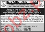 Allied School System Teaching Jobs 2020 in Islamabad