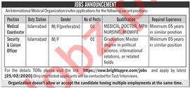 International Medical Organization IMO Jobs 2020