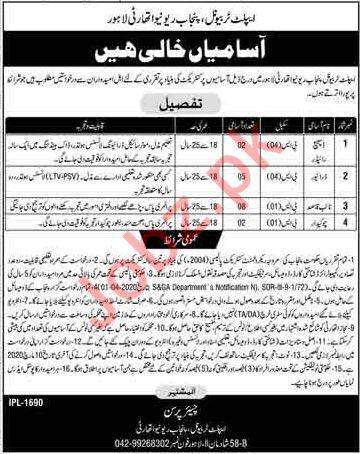 Applet Tribunal Punjab Revenue Authority Management Jobs