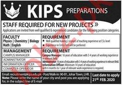 KIPS Preparations Teaching Staff Jobs 2020