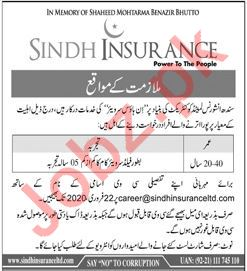 Sindh Insurance Company Jobs 2020 in Karachi